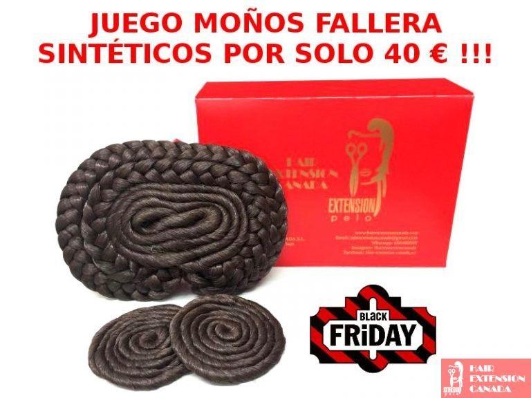 Juego Moños Fallera pelo sintético 40 € · Black Friday solo hasta el Sábado !!!